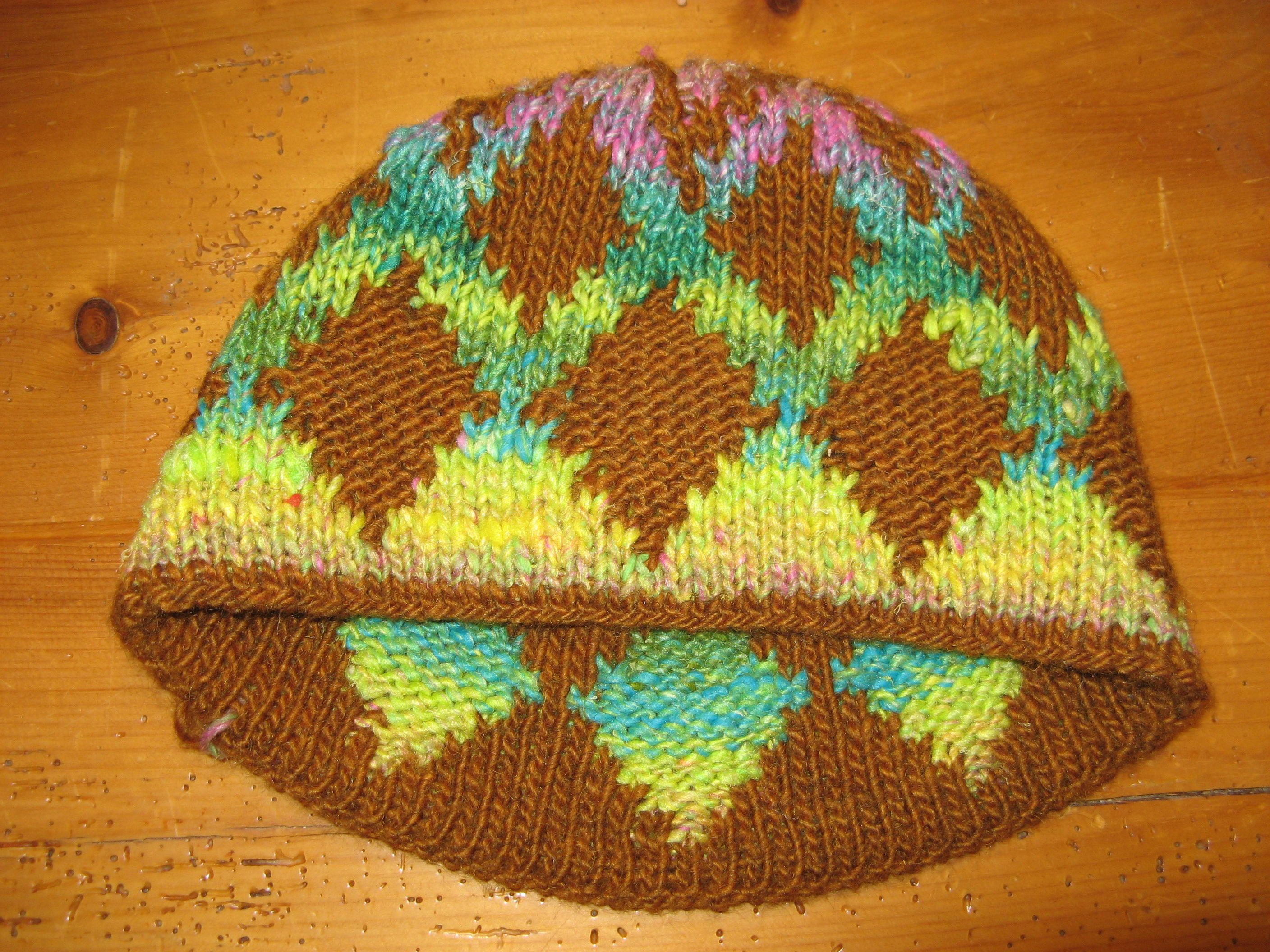 Knitting Pattern Double Layer Hat : Susan s Double Layered Hat   Gaspereau Valley Fibres ...