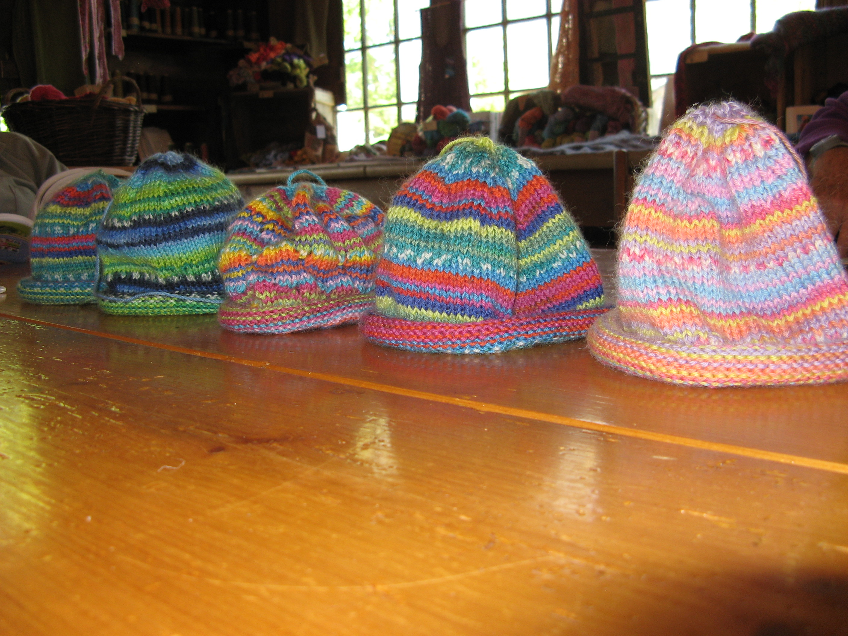 d871228651e Diane can t get enough of our dk self striping yarn and has been knitting  up a storm to create these great baby hats!